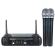 Skytec - bezdrátový mikrofón UHF - 2x ručka