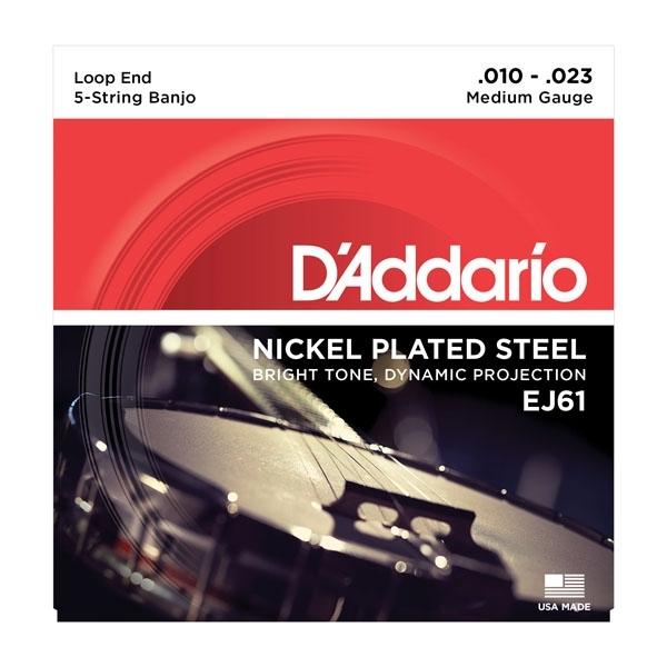 D'Addario EJ61 struny 5-str. banjo sada