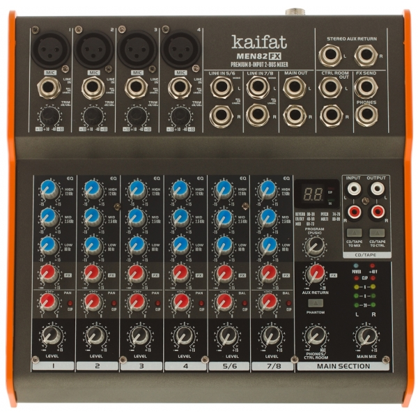 Kaifat MEN82FX mix 4x XLR, 2x stereo