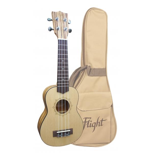 Flight DUS320 Soprano ukulele SP-ZEB