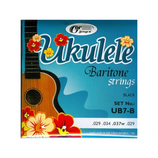 Gorčík UB7-B ukulele Bariton/Black struny