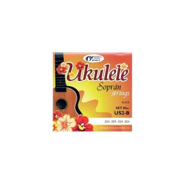 Gorčík US2-B Sopran ukulele black struny