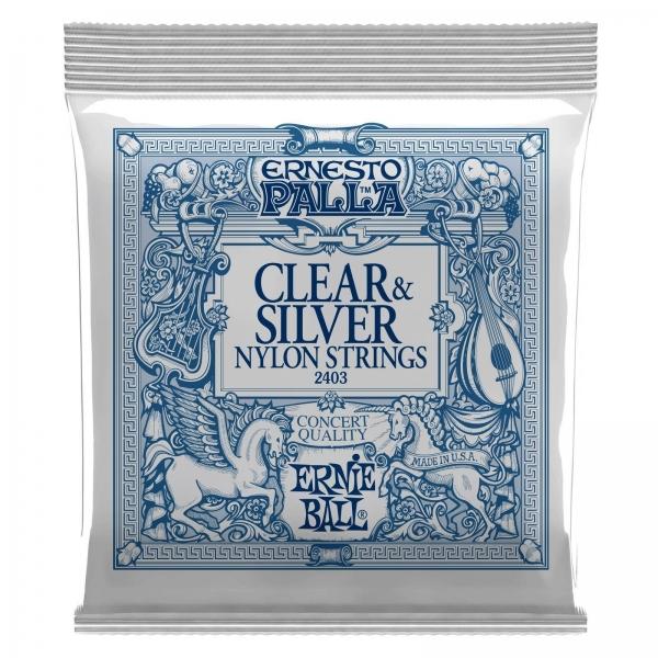Ernie Ball 2403 Ernesto Palla Nylon Clear & Silver