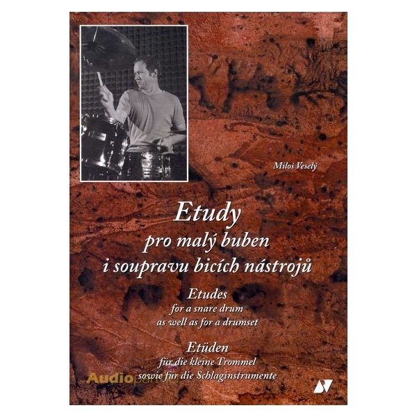 KN Etudy pro malý buben i soupravu bicích nástrojů - kniha s CD - Miloš Veselý