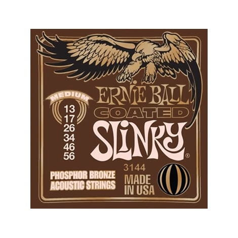 Ernie Ball 3144 Medium Coated Phosphor Bronze