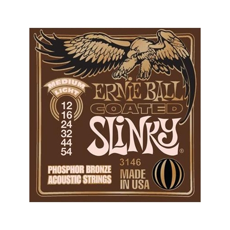 Ernie Ball 3146 Medium Light Coated Phosphor Bronze