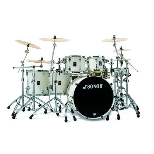 Sonor Prolite Stage 3 PL12 Shells NM Creme White Set