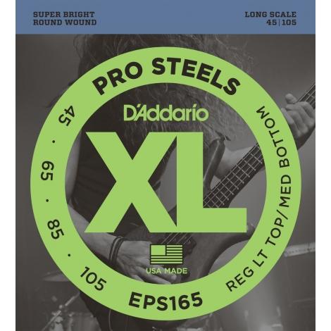 D'Addario EPS165 XL ProSteels Regular Light Top/Medium Bottom