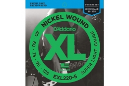 D'Addario EPS220-5 XL ProSteels Super Light