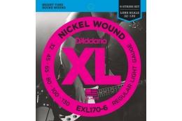 D'Addario EXL170-6 XL Nickel Regular Light