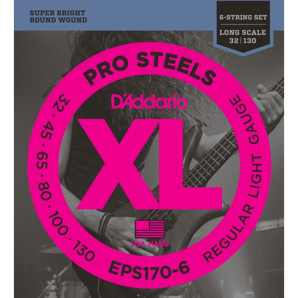 D'Addario EPS170-6 XL ProSteels Regular Light