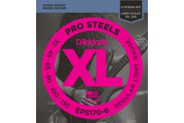 D'Addario EPS170-6 XL ProSteels Regular Light
