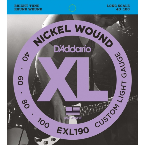 D'Addario EXL190 XL Nickel Custom Light