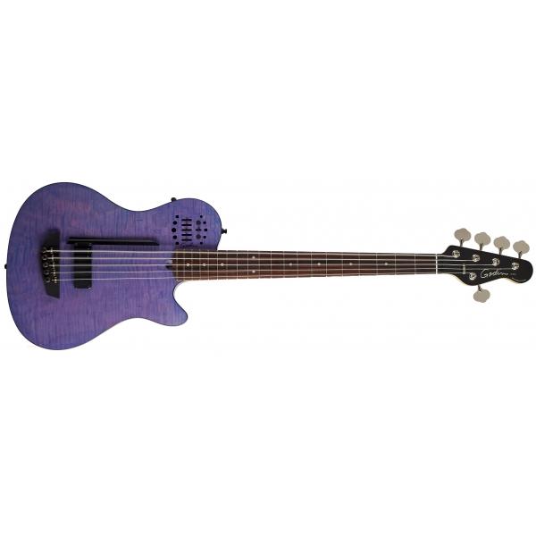 GODIN A5 ULTRA Fretted RN Purple Flame Metallica Robert Trujillo