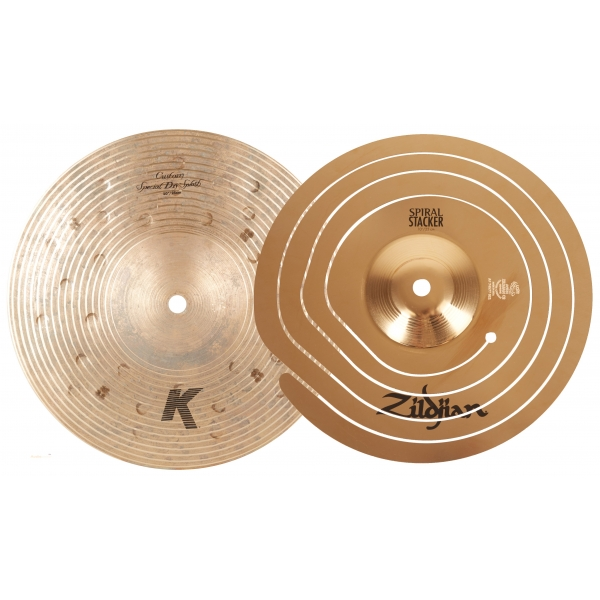 "ZILDJIAN 10"" Spiral Stacker + 10"" K Custom Special Dry Splash Stack"