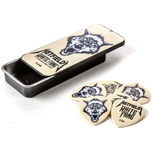DUNLOP White Fang Pick Tin 1.14