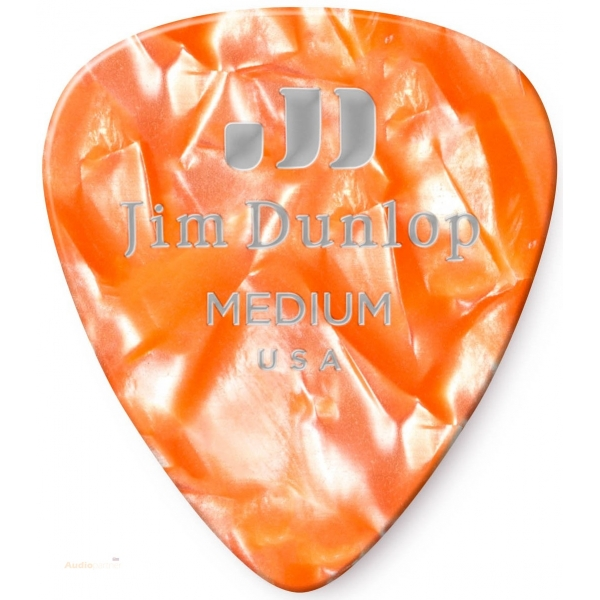 DUNLOP Celluloid Orange Pearl Medium