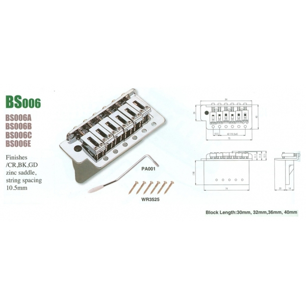 Sungil BS070 Tremolo 7-str. CR