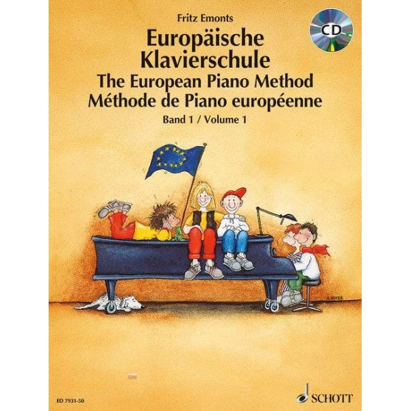 MS The European Piano Method - Volume 1 + CD