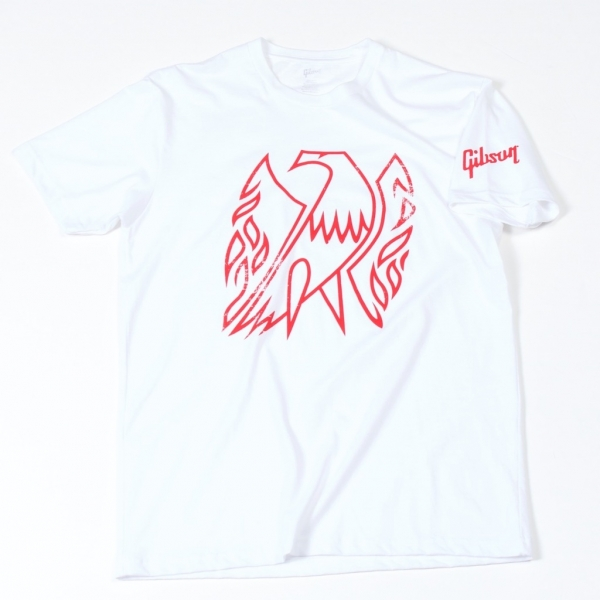 GIBSON Firebird T-Shirt White L