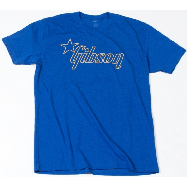 GIBSON Star T-Shirt Blue M