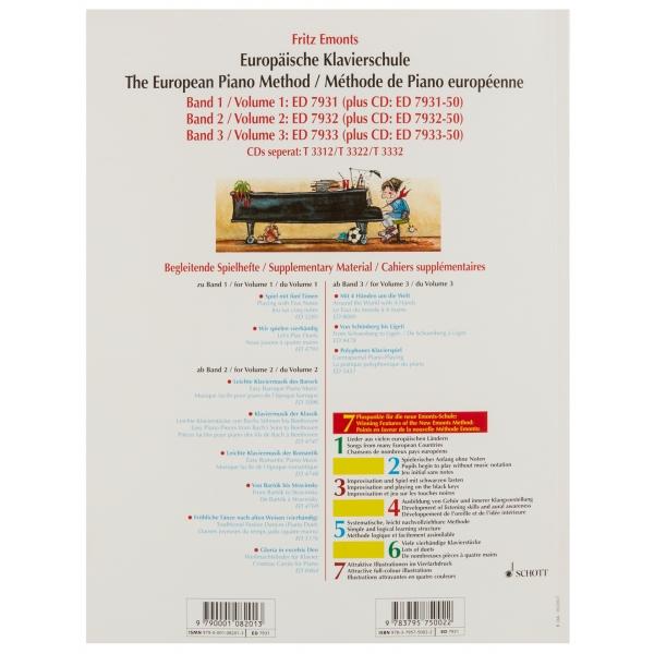 MS The European Piano Method - Volume1