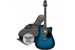 Ashton D25CEQ TBB Guitar Pack