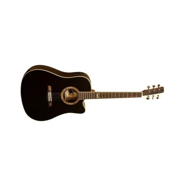 Gilmour Robust EQ Cut BK western gitara