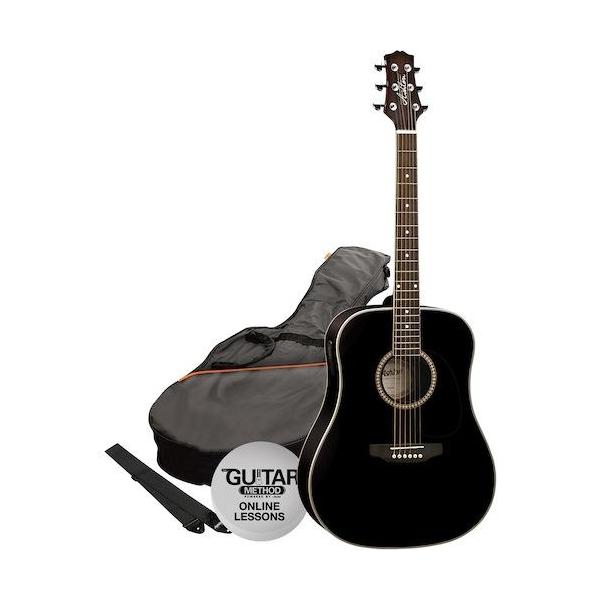 Ashton D25CEQ BK Guitar Pack
