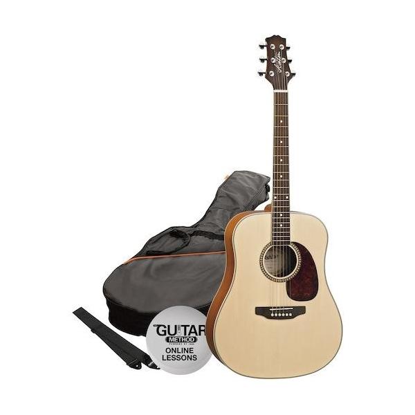 Ashton D25CEQ NT Guitar Pack
